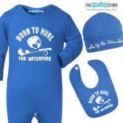 blue babygrow set