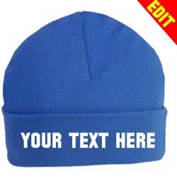 blue beenie