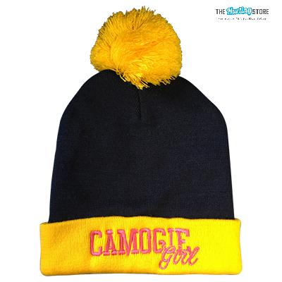 yellow bobble hat